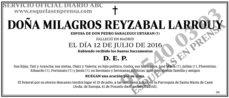 Milagros Reyzabal Larrouy